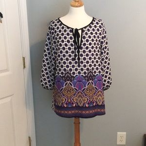 Beautiful Gibson & Latimer Purple Peasant Shirt